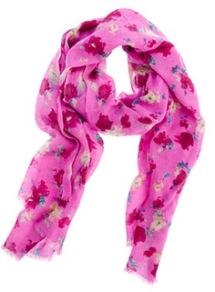 J.crew Printed Wool Scarf in Pink (hot pink) - Lyst