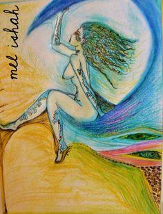 pintura en tiza pastel pintada con los dedos y marcador. que percibes en esta imagen? #paint #painting #art #women #men #beauty #nude #eyes #fullcolor #draw #drawing #tatoos #blue