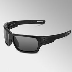 Under Armour Battlewrap Sunglasses - Satin Black/Grey