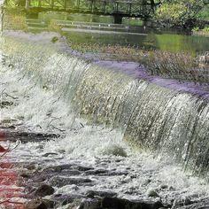Gavleån... #gävle #Sweden #water #nature #wet #stream #river #park #spring #flora #outdoors #clean #cascade #splash
