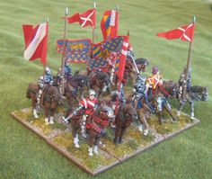 """""""A unit of knights under the banners of Thibaud de Neufchatel, Maréchal de Bourgogne lord of Epinal and Claude de Montagu, lord of Couches."""" - http://wabforum.co.uk/viewtopic.php?f=19&p=78381"""