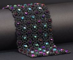Beadwoven Bracelet Tutorial Labyrinth by NEDbeads on Etsy, $10.00