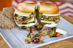 Muffuletta Sandwich, Olive Salad, Grilled Cheese Recipes, Recipe Link, Salmon Burgers, Eggplant, Great Recipes, Salad Recipes, Sandwiches