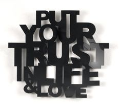 energy to what matters...trust and love.    Life is simple, we just make it complicated