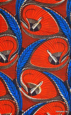 African Print fabric reminiscent of anthurium lilies Textile Prints, Textile Patterns, Textile Design, Print Patterns, Textile Art, African Textiles, African Fabric, African Patterns, Pattern Art