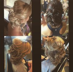 Some classy updo's for these lovely ladies!