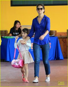 Katie Holmes takes her daughter Suri to gymnastics class on July 12, 2013