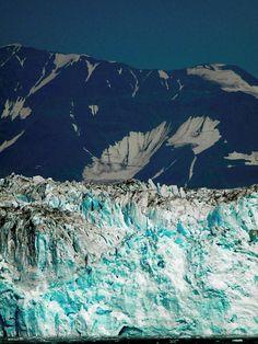 AK glacier on Holland America Line...LOOOOVE the blue!