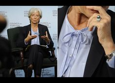 Monthly Style Muse: Christine Lagarde – Don't Ruin Your Dress Star Fashion, Fashion Photo, Work Fashion, Dark Grey Hair Color, Colored Hair Tips, French Chic, Parisian Style, Powerful Women, Home