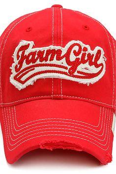 Farm Girl Vintage Sport Logo Hat iPhone Wallpaper