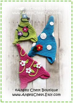Crochet GARDEN GNOME Hat PDF Pattern Sizes Newborn por AngelsChest, $6.99