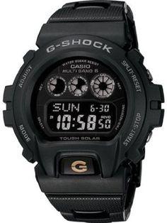 Casio Mens G-Shock Solar Atomic Bracelet Black Dial Watch GW6900BC-1