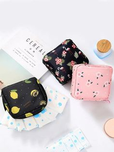 Multicolor Polyester Floral Cartoon Storage Bags Storage Bags, size features are:Bust: ,Length: ,Sleeve Length: Napkin Cards, Cute Pencil Case, Sanitary Napkin, Cute Stationary, Small Cosmetic Bags, Beauty Case, Girls Bags, Pattern Mixing, Pouch Bag