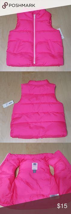 Old Navy Frost Free Pink Vest New with tags - Old Navy Frost Free Pink Vest Retail $20 Color: hot pink  Size 18-24M  Details - zips up - 2 real pockets on front - 100% polyester  Care - machine wash cold/tumble dry low Old Navy Jackets & Coats Vests