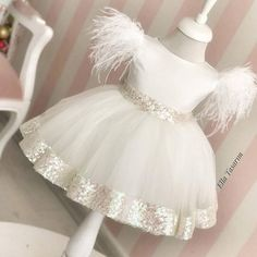 Good Morning with an Angel in Whites - For information and order: 📲 Wha . Kids Dress Wear, Kids Gown, Baby Girl Dress Patterns, Baby Dress Design, Cute Little Girl Dresses, Dresses Kids Girl, Baby Girl Fashion, Kids Fashion, Dress Outfits