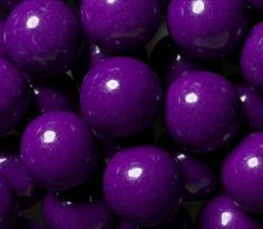 These glossy gumballs are a party planner's dream, with alluring purple candy shells that give way to sweet, crowd-pleasing grape flavors. Purple Candy, Purple Food, Purple Lilac, Shades Of Purple, Deep Purple, Gold Candy, Purple Pages, All Things Purple, Purple Stuff