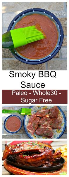 This delicious clean eating barbecue sauce is Paleo, Whole30 compliant and Sugar free. It tastes amazing on ribs and chops.