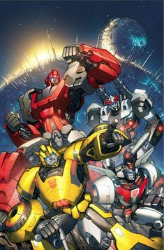 Transformers - The Autobots on Cybertron. #Transformers #Autobots #Decepticons