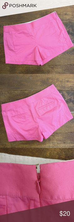 J. Crew Side Zip Pink Cotton Shorts J. Crew  100% cotton shorts  Side zipper and hook closure  Front and back pockets  Super cute for summer!! J. Crew Shorts