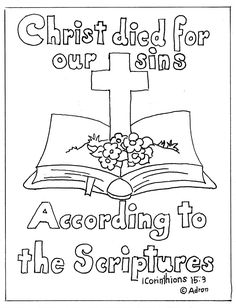 Coloring Pages for Kids by Mr. Adron: Bible and Cross Print and Color Page coloringpagesbymr… Make your world more colorful with free printable coloring pages from italks. Our free coloring pages for adults and kids. Sunday School Coloring Pages, Easter Coloring Pages, Coloring Pages For Kids, Coloring Sheets, Adult Coloring, Fairy Coloring, Kids Coloring, Colouring, Coloring Books