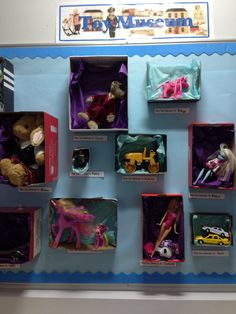 Toys Topic Activities Classroom Displays New Ideas Class Displays, School Displays, Museum Displays, Library Displays, Classroom Displays, Ks1 Classroom, Year 1 Classroom, Classroom Ideas, Reception Class