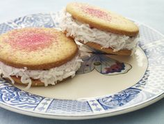 Raspberry-Coconut Ice Cream Sandwiches