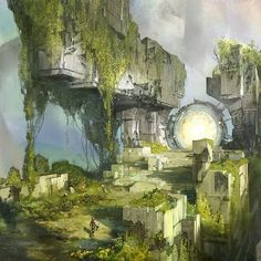 Destiny is an amazing game.  And the concep art created for it is equally amazing ❤ . . Stunning environment painting by concept artist Dorje Bellbrook . . #paintingswow #scifiart #digitalart #conceptart #environmentdesign #scifi #destiny #bungiedestiny