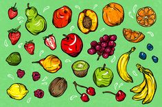Fantastic Fruit by melissadn on @creativemarket