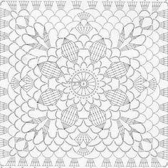Transcendent Crochet a Solid Granny Square Ideas. Inconceivable Crochet a Solid Granny Square Ideas. Crochet Skirt Pattern, Crochet Doily Diagram, Crochet Motif Patterns, Crochet Bedspread, Granny Square Crochet Pattern, Crochet Tablecloth, Crochet Chart, Crochet Squares, Crochet Granny