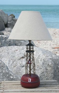 Bell Buoy Red Lamp | Coastal Style Gifts