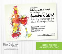 Hey i found this really awesome etsy listing at httpsetsy find this pin and more on grown up birthday parties painting wine birthday invitation stopboris Images