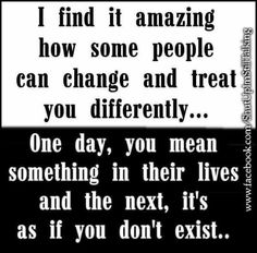 So true. The people you were there for never give themselves the opportunity to be there for you. No calls, just snooty shrug of the shoulders attitude. I'm so sick of this! I'm done being there for people when they couldnt give two craps for me.
