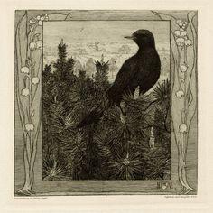 Heinrich Vogeler (1872-1942) – Die Amsel (1899)