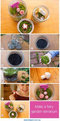 Make a fairy garden terrarium