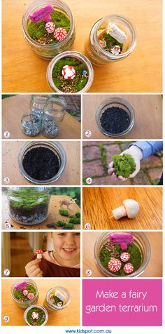 Make a fairy garden terrarium; may have to do this as the last outdoor one became food for my rabbits!