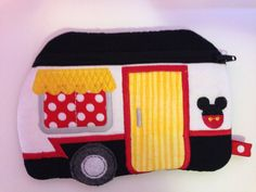 Mickey Mouse Inspired Wristlet Perfect for Phone Money Cards Applique Personalized ID Holder Retro Camper on Etsy, $24.95