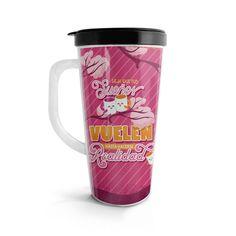 Vasito viajero – Deja que tus sueños vuelen, encuentra este producto en nuestra tienda online. Travel Mug, Mugs, Tableware, Vase, Siempre Contigo, Store, Dinnerware, Tumblers, Tablewares