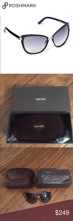 Tom Ford Cat-eye Sunglasses (029) Protect pretty eyes from a case of the squints as well as from harmful UV rays with this sleek pair of sunglasses that bring a designer touch that's undeniably chic. * Includes sunglasses, cleaning cloth and case * Lens width: 57 mm * Bridge distance: 15 mm * Arm length: 136 mm * 100% UV protection * Made in Italy Tom Ford Accessories Sunglasses