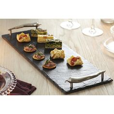 From the Just Slate Company, each slate is skilfully cut, shaped and lacquered by craftsmen in Kirkcaldy, Scotland Farmers Market Display, Slate Art, Slate Cheese Board, Slate Signs, Tile Crafts, Slate Roof, Serving Board, Craft Sale, Tray