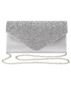 50c46bdac5 Womens Evening Bag Handbag Clutch Purse Rhinestone-Studded Flap for Wedding  Party Prom - Silver - CH18979CX3D