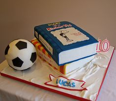 Diary of a Wimpy kid and soccer cake by cakespace - Beth (Chantilly Cake Designs), via Flickr