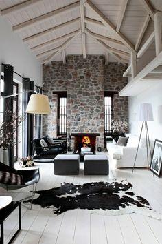 steinwand und skandinavischen stil kombinieren