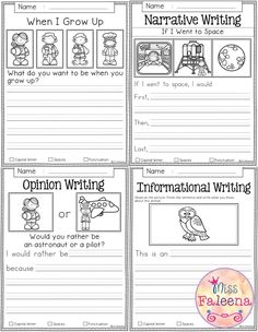 This can be used as a great tool for students to know the different types of writing and practice their narrative writing as well.