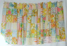 Vintage Sheet Curtains
