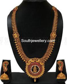 Antique Long Haram with Ganesh Pendant