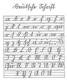 Deutsche Schrift - a b c d e f...
