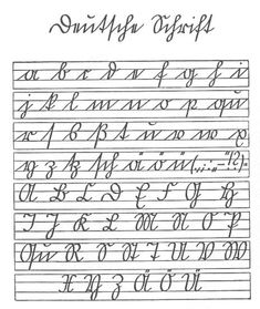 Deutsche Schrift - a b c d e f. Deutsche Schrift - a b c d e f. Brush Lettering, Hand Lettering, Script, Free Genealogy Sites, Fancy Writing, Cursive Alphabet, Cursive Handwriting, Vegvisir, Diy Tattoo