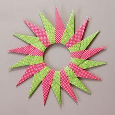 Origami Sterne falten Faltsterne Anleitung kostenlos fertig