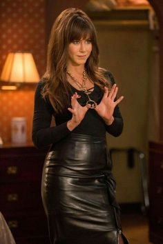 Jennifer Aniston in leather