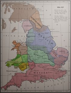 Map of Medieval England and Wales